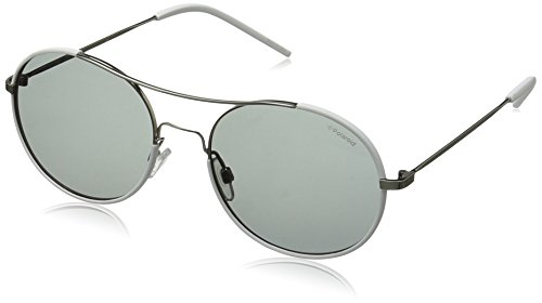 Polaroid Sunglasses Pld1021s Round, Ruthenium/Gray Polarized, 55 - Polaroid Sunglasses Round