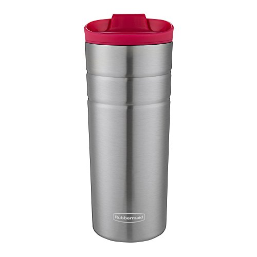 Rubbermaid Leak Proof Flip Lid Thermal Bottle, 16 oz., Bordeaux