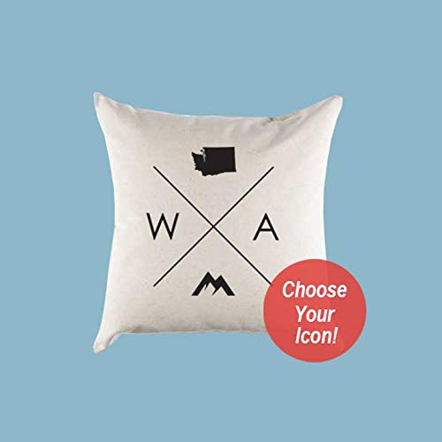Washington WA Home State Canvas Pillow or Pillow Cover