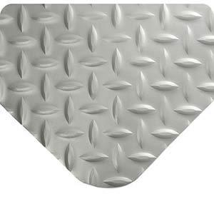 (Wearwell 415, Diamond-Plate SpongeCote Anti-Fatigue Mat, 9/16 Inch x 3' x 5', Gray)