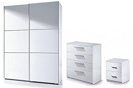 Set di mobili per camera da letto 3 pezzi armadio + 2 ante ...
