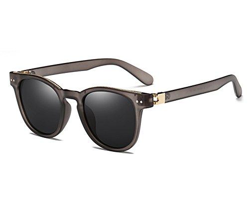 de guiar polarizadas gafas gray hombres gafas Sunglasses Gafas negro al Gafas abrir revestimiento gray para Oval masculinas Bastidor TL sol plata qxgpE66