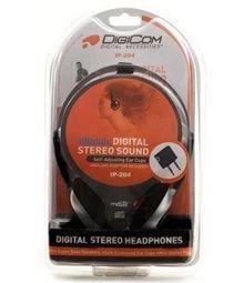 Digicom Intl Digicom IP-204 Digital Stereo Sound Self-Adjusting Headphones (Medium) ()