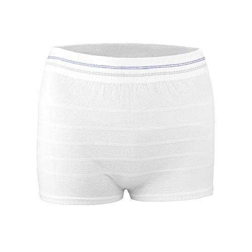 Mesh Postpartum Underwear High Waist Disposable Post Bay C-Section Recovery Maternity Panties for Women (White-3 Pack, Medium/Large)