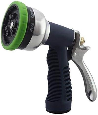 スプリンクラーノズル車の水の噴霧器ポータブルアジャスタブルガーデンウォータースプレー0.2-0.55MPA高い圧力がカーウォッシュホースツール(カラー、グリーン)、グリーンスプレーヤースプレー 散水用具