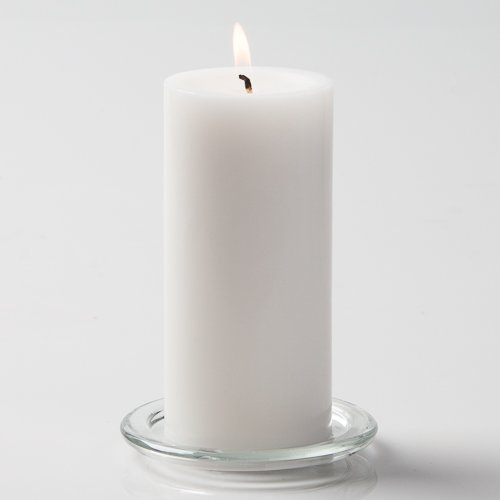 Richland 3'' X 6'' Hand Poured White Pillar Candle Set of 24