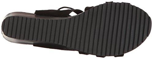 COOLWAY Women's Caldas Wedge Sandal Black 8uRr1mXTUC