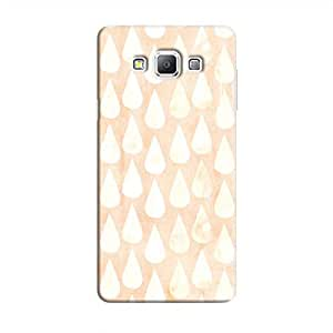 Cover It Up - Raindrops Print Orange Galaxy A3 Hard Case
