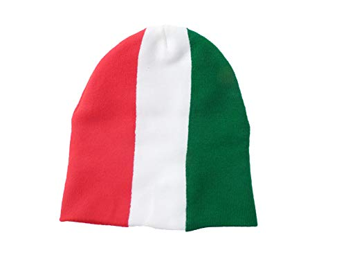 TooLoud Italian Flag Adult Knit Beanie Skull Cap Hat for Men or Women White 7cb0a01a0dd