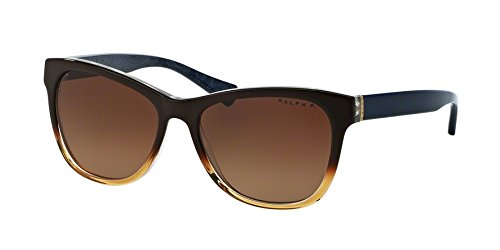 Ralph by Ralph Lauren Women's 0RA5196 Polarized Round Sunglasses, Brown Gradient,Navy Bandana,Brown & Gradient Navy Bandana, 54 - Lauren Ralph Polarized Sunglasses
