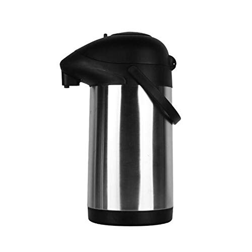 Airpot Thermal Flask with Pump Mechanism Stainless Steel, Suitable for Hot Or Cold Drinks Up to 24 Hours, Perfect for Coffee and Tea, ()