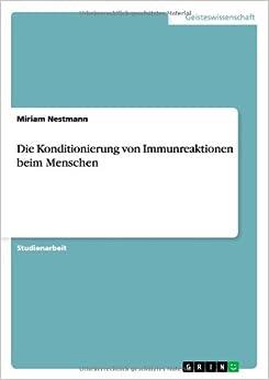Die Konditionierung von Immunreaktionen beim Menschen