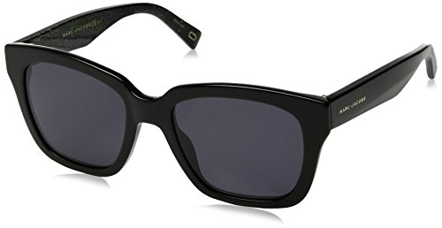 Marc Jacobs Women's Marc229s Polarized Square Sunglasses, BK GLITTR, 52 -