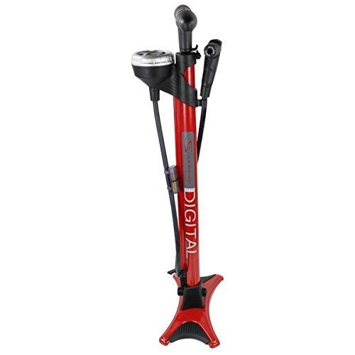 Serfas FPD-200 Digital Gauge Bicycle Floor Pump (Red) (Serfas Pump Bicycle)