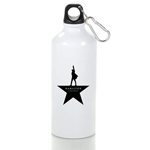 STIMHWHH Alexander Hamilton Logo Aluminum Outdoor Sports Bottle Perfect for Running - Porcelain Hamilton