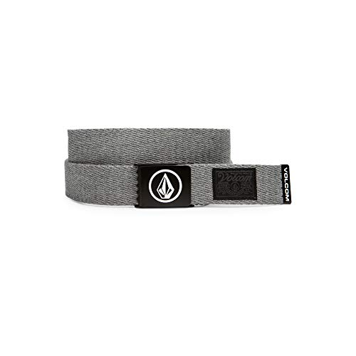 Volcom Men's Circle Web Belt, heather grey, One Size from Volcom