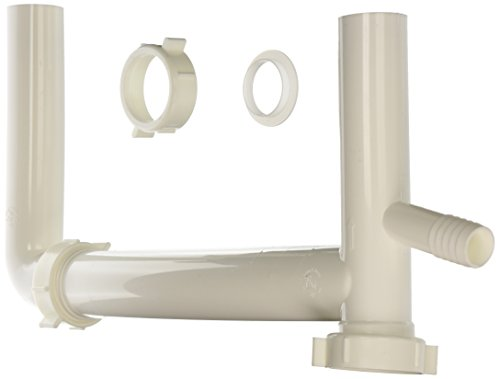 Keeny 119AWK 1-1/2-Inch Plumb Pack White End Outlet Continuous Waste with Baffle Tee ()