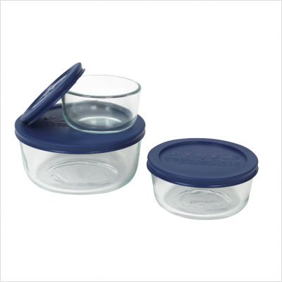 Pyrex Simply Store 6-Piece Glass Food Storage Set (Pyrex Small Containers With Lids)