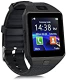 WELROCK Sony Xperia C4 Compatible Bluetooth Smart Watch with Camera and Sim Card Support for all 2G, 3G, 4G Android/iOS Phone (Black)