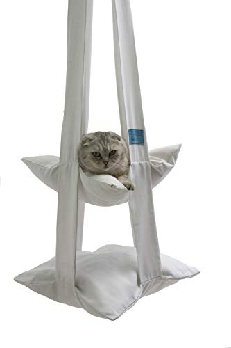 Katzy Pet Cat Bed – Unique Hammock Hanging Soft Bed for Cats – Comfortable & Warm – 100% Cotton – Safe and Secure for Kittens – Space Saving + Free Cat Scratcher Included Review