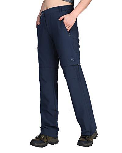 Outdoor Ventures Women's Elenis Lightweight Convertible Stretch Quick Dry Cargo Shorts Pants Deep Blue
