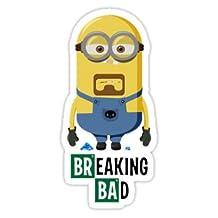 2x Minion Breaking Bad heisenberg Mr.White Sticker Aufkleber car decal laptop ipad mac truck 4x4 jdm