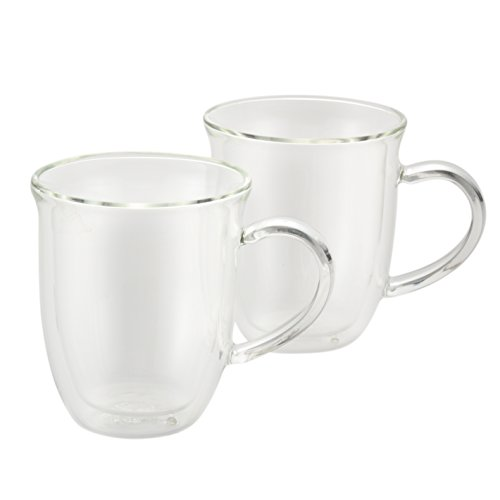 BonJour Coffee Insulated Borosilicate Glass Cappuccino Cups, 2-Piece Set, 8-Ounces Each (Cup Oz Each French Press compare prices)