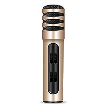 QGT BGN-C7 Micrófono de Condensador Doble teléfono móvil Karaoke ...