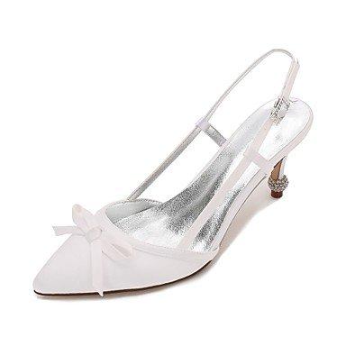 Las Mujeres'S Wedding Shoes Confort Satin Primavera Verano Boda Vestido De Noche &Amp; Rhinestone Bowknot Champán Heelivory Plana Rubí Azul US7.5 / EU38 / UK5.5 / CN38