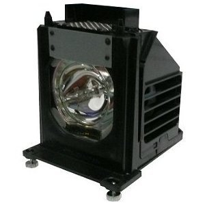 TV Lamp 915P061010 with Housing for Mitsubishi TV and 1-Year Replacement (Replacement Television Lamp)