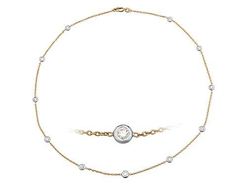 Birgie Diamants et Bijoux - Pendentif Saphir et Diamants-Femme- or Blanc 201P0042