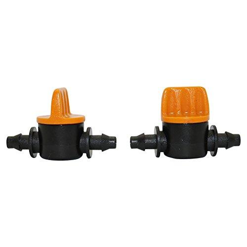 BIG-DEAL Garden Tool,_5 Pcs 4/7mm Miniature Valves Homebrew Garden Irrigation Switch Coupling Barbed Slotted Water Hose Valve Garden Water Connectors - ( Diameter:Miniature valves )