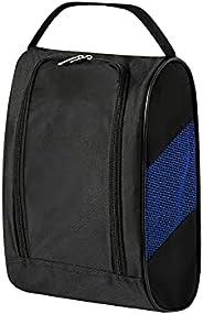 Golf Shoe Bag, Nylon Mesh Breathable Shoe Carrier Storage Pocket Pouch with Zipper Ventilation & Outside P