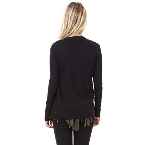 Manteaux Outwear Frühling Fermeture femmes pour Manteau Cashm Betrothales Printemps Schwarz qrCBYqx