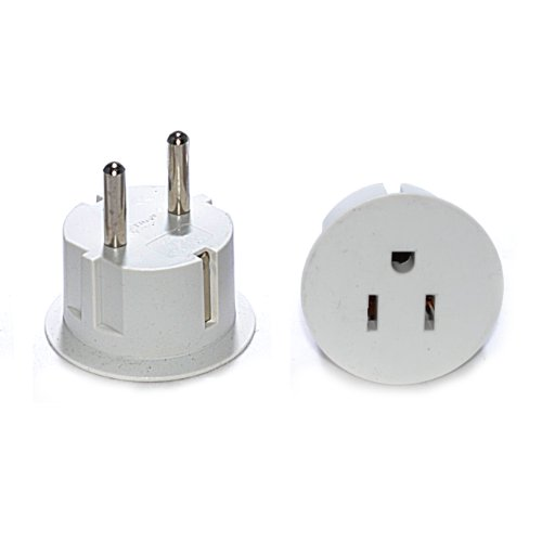 OREI American USA To European Schuko Germany Plug Adapters CE Certified Heavy Duty