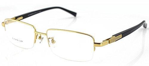 Gold 100% Pure Titanium Spectacles Men Glasses Optical ...
