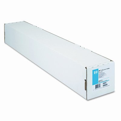 Professional Matte Canvas Paper Roll, 36'' x 50 ft, White by HP
