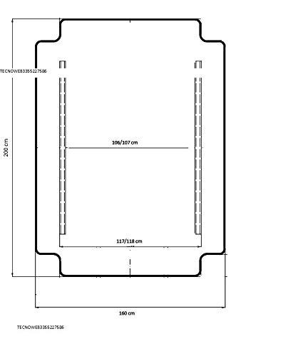 Ricambio Completo di TETTUCCIO per Dondolo 3 POSTI cm 135
