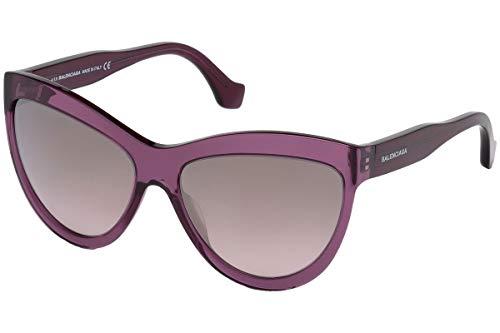 Sunglasses Balenciaga BA 90 69C shiny bordeaux / smoke mirror