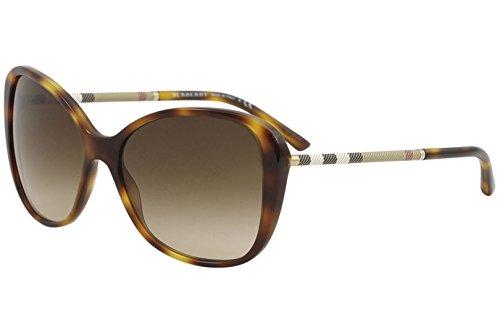 Burberry Women's BE4235Q Sunglasses Light Havana/Brown Gradient -