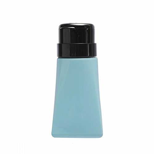 Polytree 150ml Empty Pump Dispenser Cylinder Bottle For Nail Art Polish Remover Makeup Remover