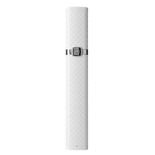 zantec Tragbare Mini 7Abschnitt verstellbar Bluetooth Selfie Stick Fashion Einfache Selfie Stick, weiß Weiß
