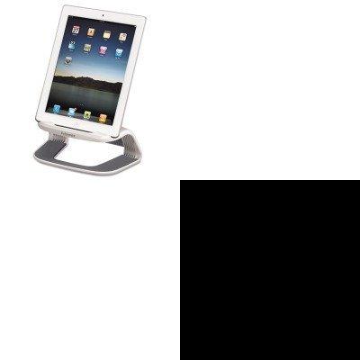 Fellowes Telephone Stand (KITFEL9311301FEL99722 - Value Kit - Fellowes Tablet Riser (FEL9311301) and Fellowes Telephone Surface Cleaner Wet Wipes (FEL99722))