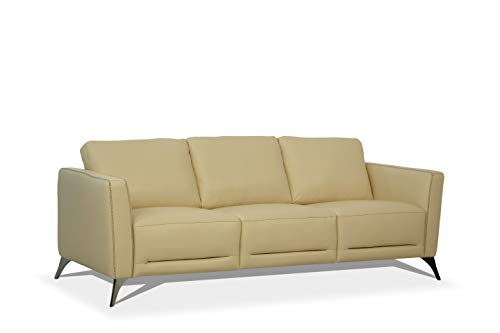 ACME Furniture 55005 Malaga Sofa, Cream Leather