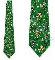 Leprechaun Tie - Leprechaun Ties Beer and Music NeckTie St. Patricks Day