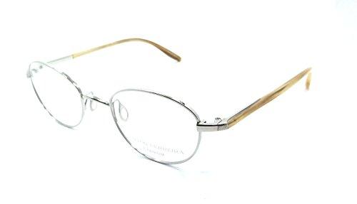 Barton Perreira RX Eyeglasses Frames Gatsby 46x20 Silver / Horn Titanium - Titanium Perreira Barton