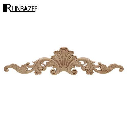 ZANAN Figurines & Miniatures - Natural Oak Wood Carved Applique Furniture Decorative Figurine Miniatures Model Home Decoration Accessories 1 PCs