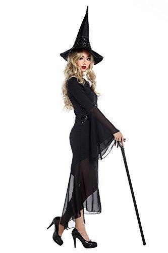 Vestido de Halloween de bruja de las mujeres con correa