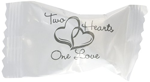 Wrapped Wedding Buttermints 108 Pc Bag (Two Hearts),14 oz