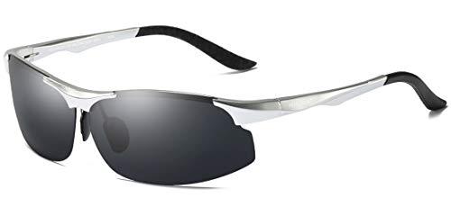 Gafas Mg Al Para Hombre WHCREAT De Ultraligero Negro De Sol Sports Plata Marco De Conducción Fishing Metal Polarizadas gwxAExZq